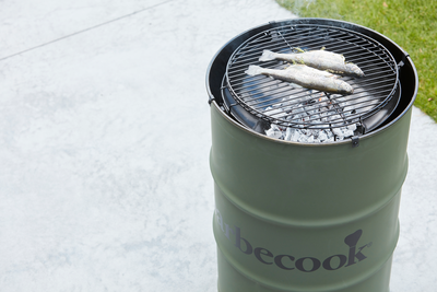 Edson charcoal BBQ army green