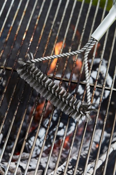 How do you clean your Edson charcoal BBQ black?