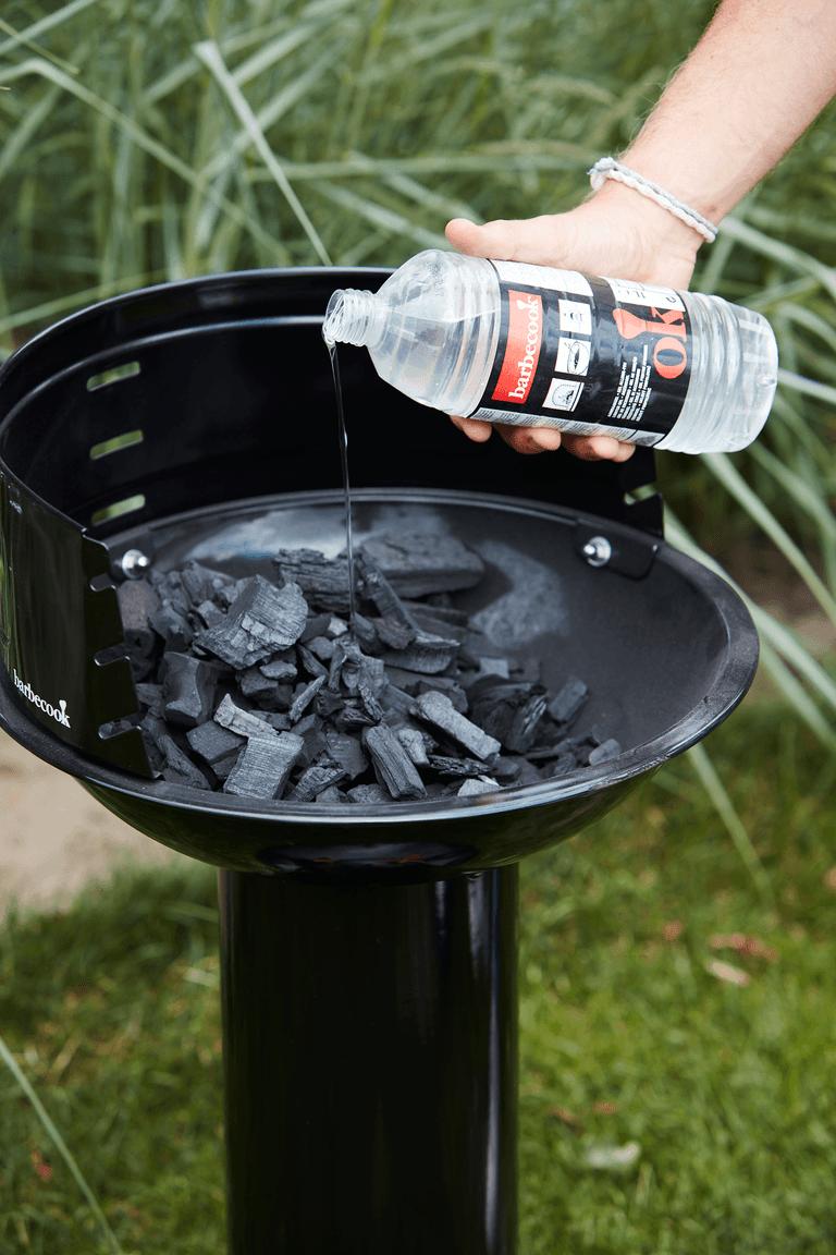 Hoe werkt een Loewy 40 houtskool BBQ?