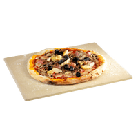Universal pizza stone made of refractory clay
