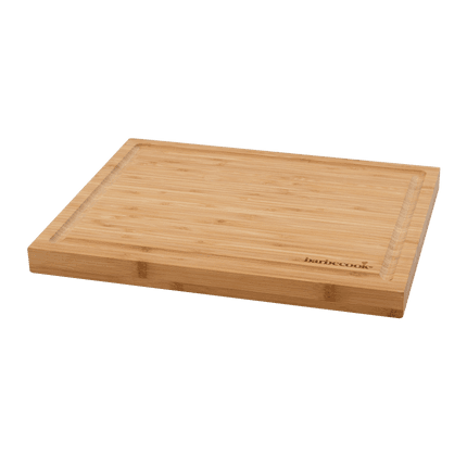 Bamboo cutting board with groove 40x30x3cm