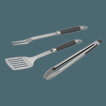 Black Pepper BBQ set avec spatule, fourchette et pince