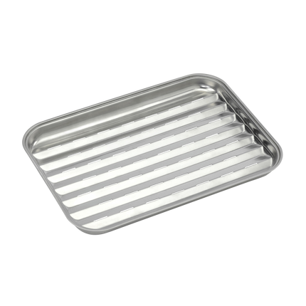 Reusable stainless steel grill pan