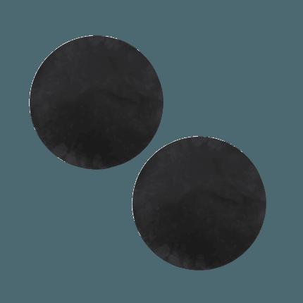 Set de 2 tapis de grille noir Ø 40cm