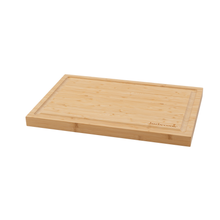 Bamboo cutting board with groove 46.5x28x2.8cm