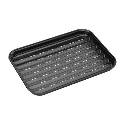 Reusable enamel grill pan