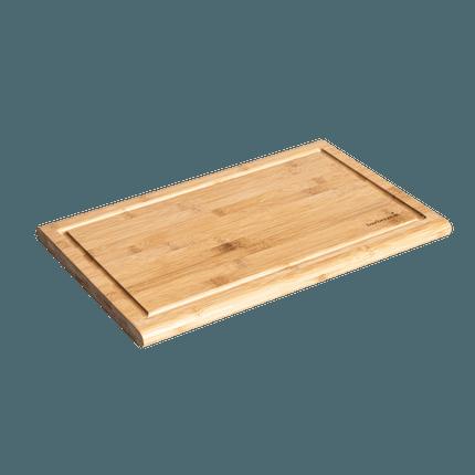 Planche à découper en bambou avec rainure 43x28x2cm