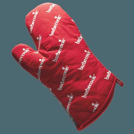 Handschoen uit katoen rood