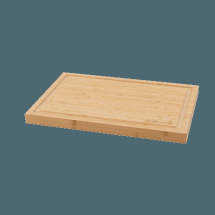 Planche à découper en bambou avec rainure 46.5x28x2.8cm