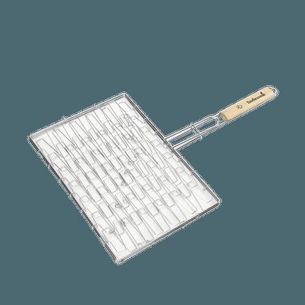 Elastischer Grill mit Griff aus FSC Holz