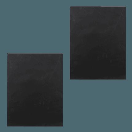 Set of 2 grill mats black 40x33cm