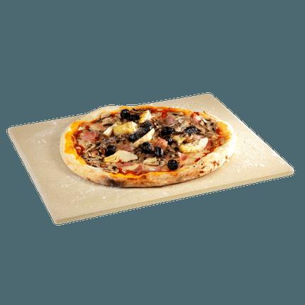 Universele pizzasteen uit vuurvaste klei
