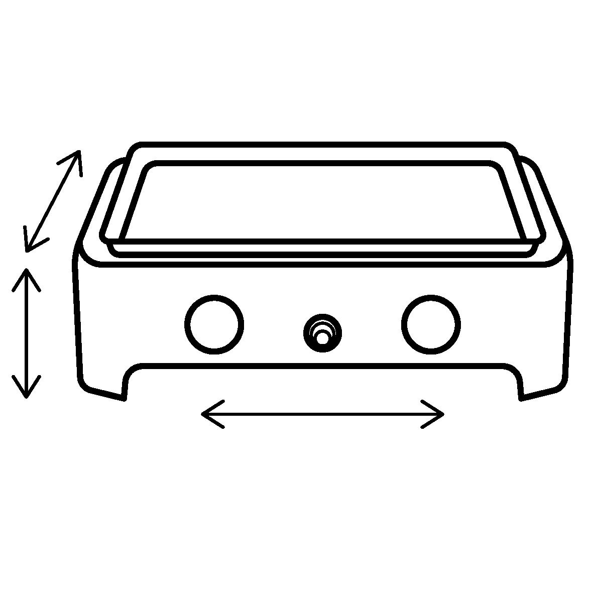 Afmetingen L x B x H