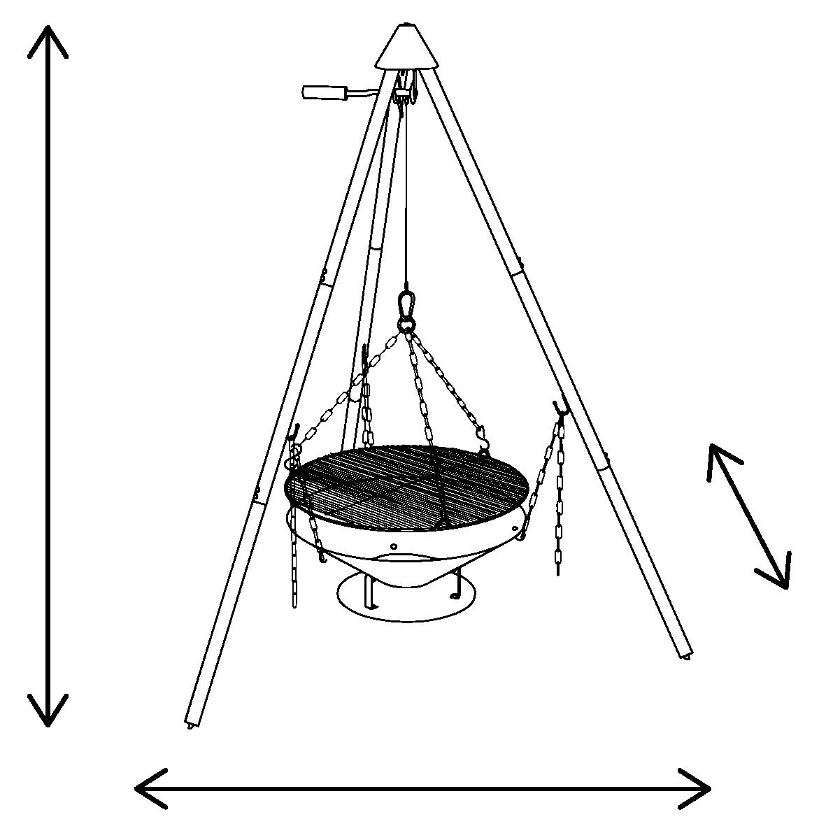 Abmessungen L x B x H